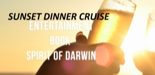 Guest one cruises for free on the Sunset cruise and has the option to upgrade to the Dinner from $30 and the second guest paying Dinner cruise full price.